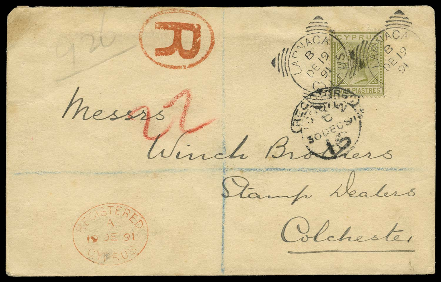 CYPRUS 1891  SG20 Cover