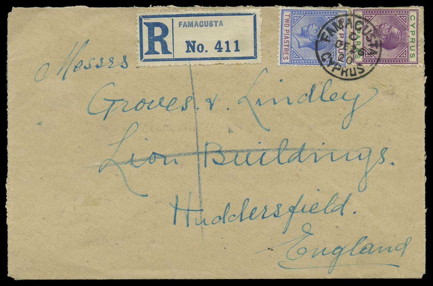 CYPRUS 1920  SG76,78 Cover