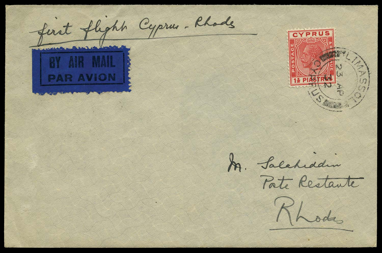 CYPRUS 1932  SG120 Cover