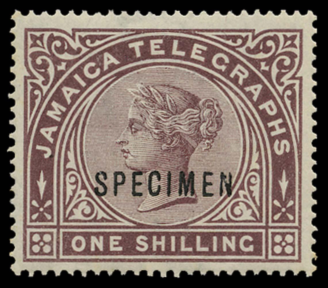 JAMAICA 1879  SGT2s Telegraph