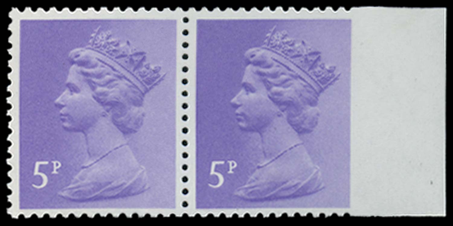 GB 1980  SGX1003var Mint imperforate to right margin