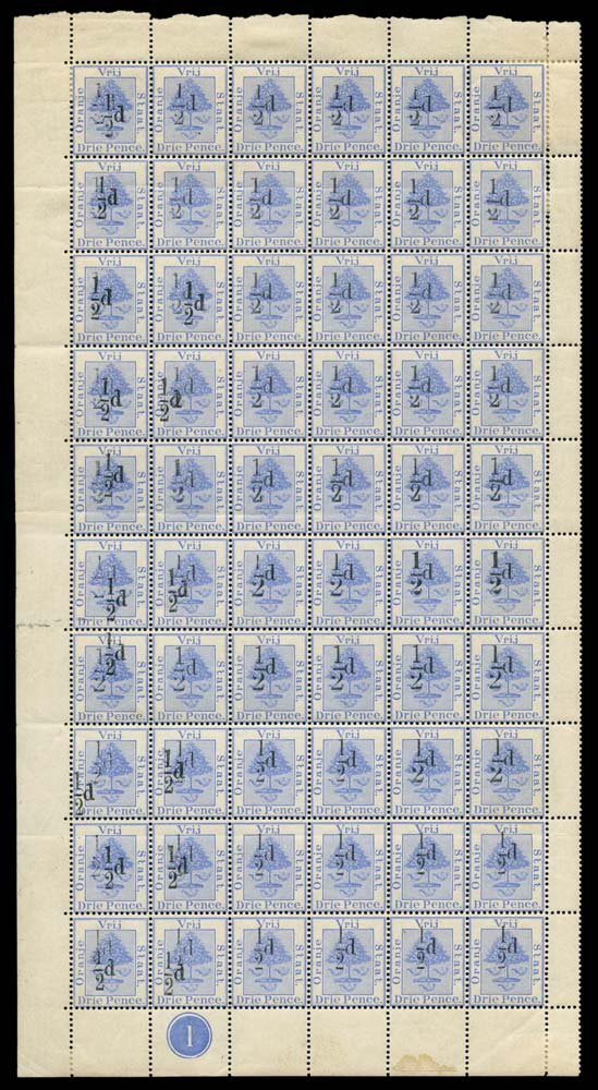 ORANGE FREE STATE 1896  SG69/75/a Mint