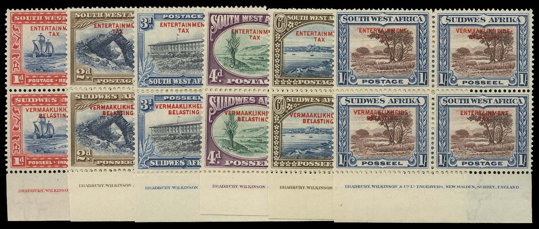 SOUTH WEST AFRICA 1937  SG. Revenue