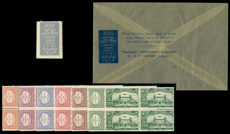 GB 1934 Cinderella - Air Post Exhibition