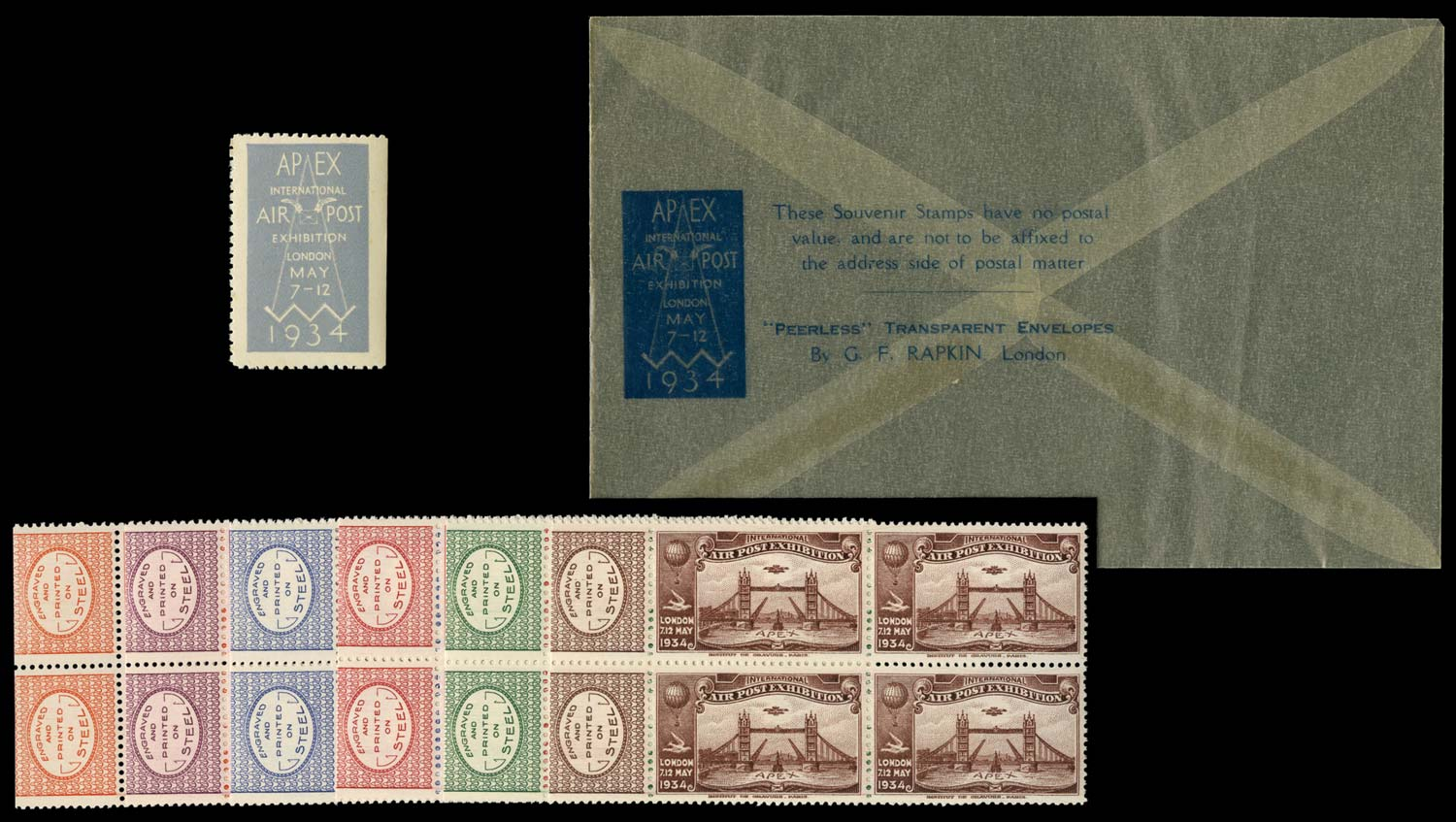 GB 1934 Cinderella - Air Post Exhibition