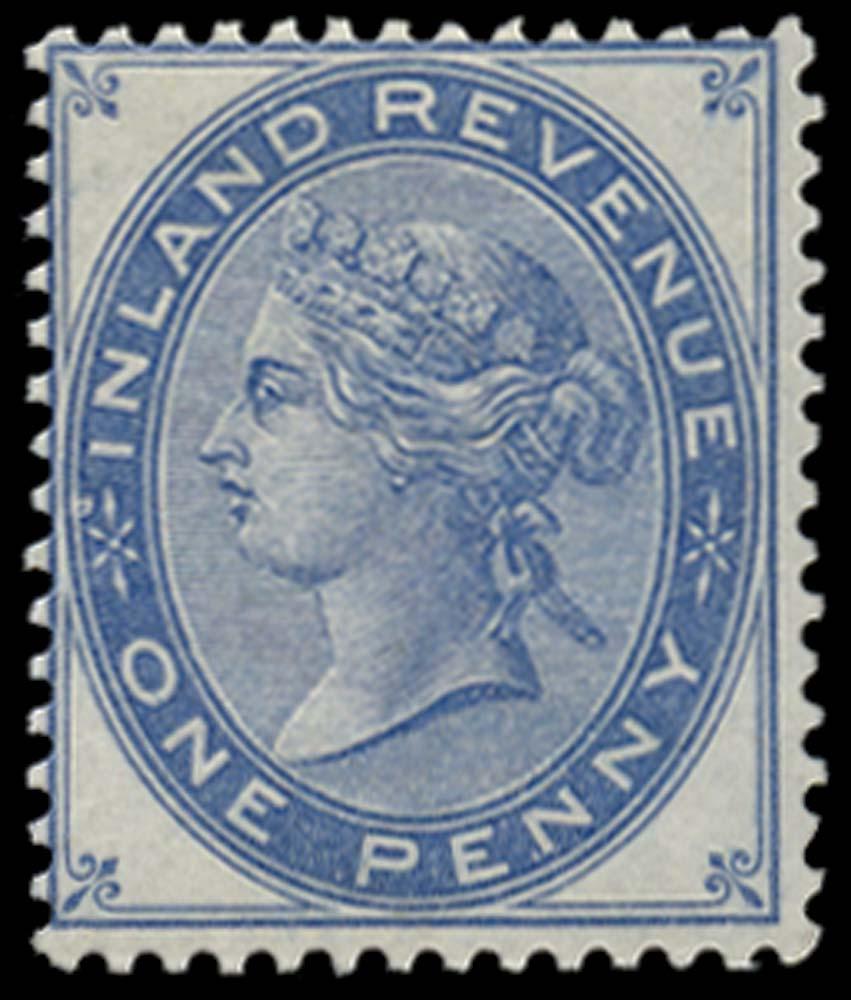 GB 1881  SGF23var Postal Fiscal - colour trial