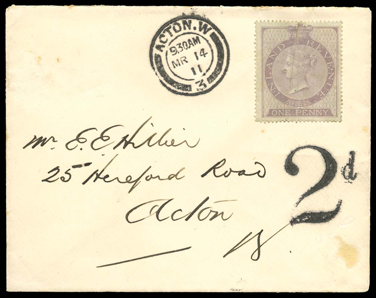 GB 1867  SGF15 Postal Fiscal (Wmk. Anchor 18mm)