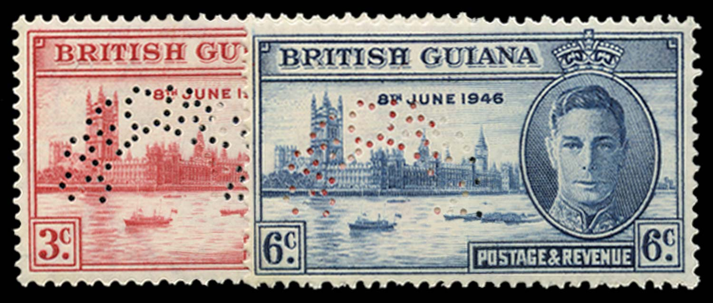 BRITISH GUIANA 1946  SG320s/1s Specimen
