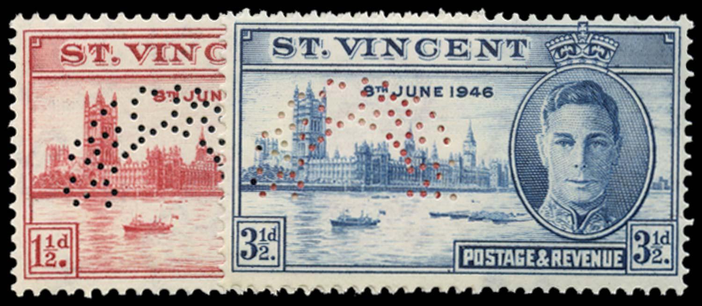 ST VINCENT 1946  SG160s/1s Specimen