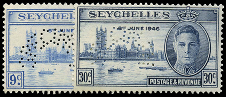 SEYCHELLES 1946  SG150s/1s Specimen