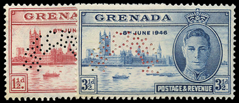 GRENADA 1946  SG164s/65s Specimen