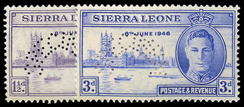SIERRA LEONE 1946  SG201s/2s Specimen