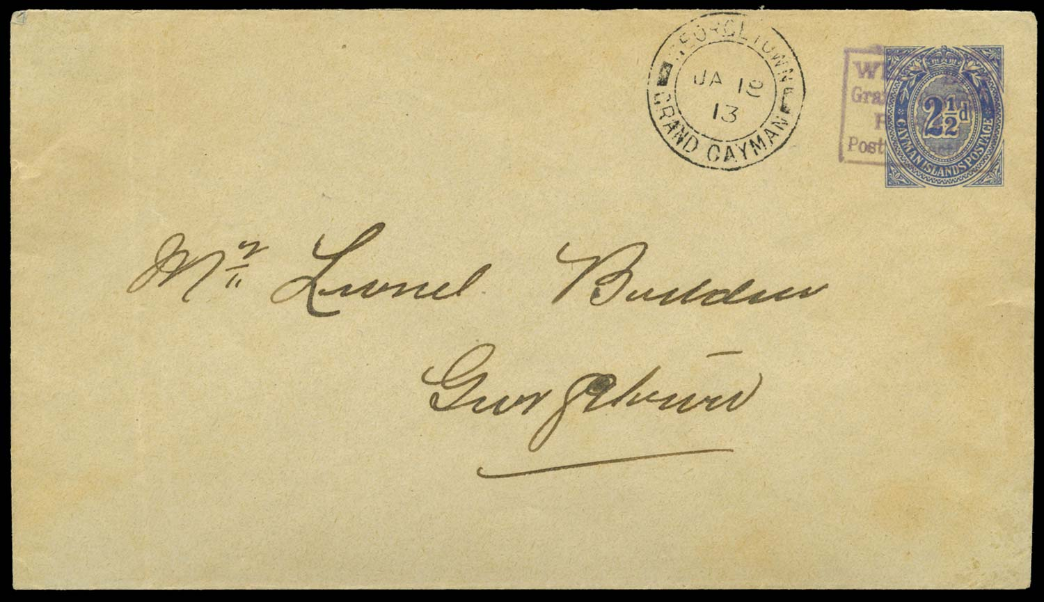 CAYMAN ISLANDS 1911 Cover