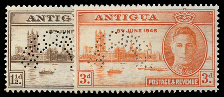 ANTIGUA 1946  SG110s/11s Specimen