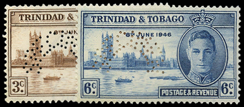 TRINIDAD & TOBAGO 1946  SG257s/8s Specimen