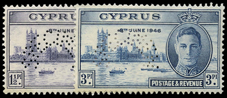 CYPRUS 1946  SG164s/5s Specimen Victory set unmounted