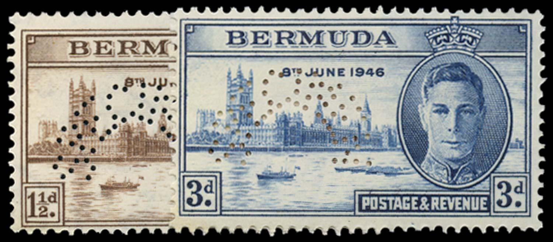 BERMUDA 1946  SG123s/4s Specimen