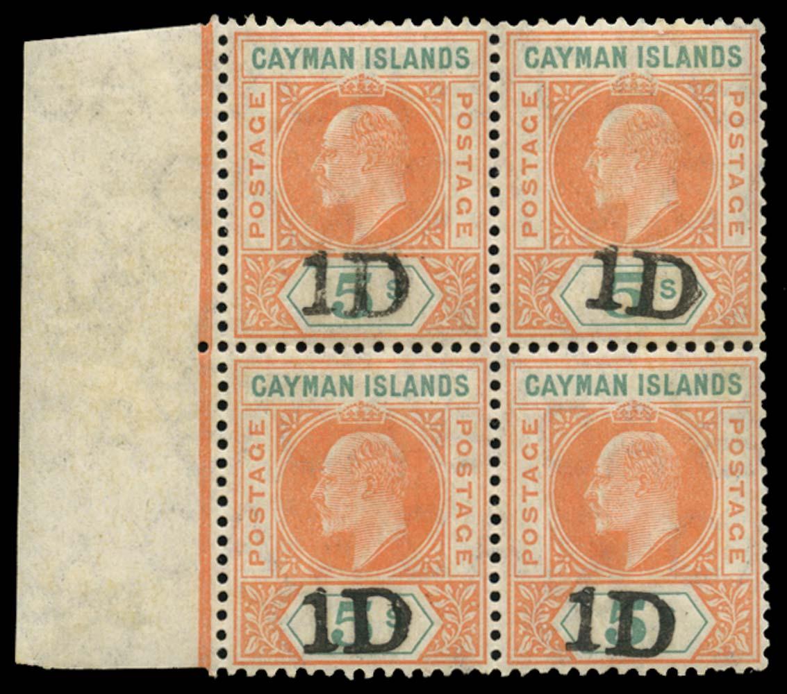 CAYMAN ISLANDS 1907  SG19 Mint