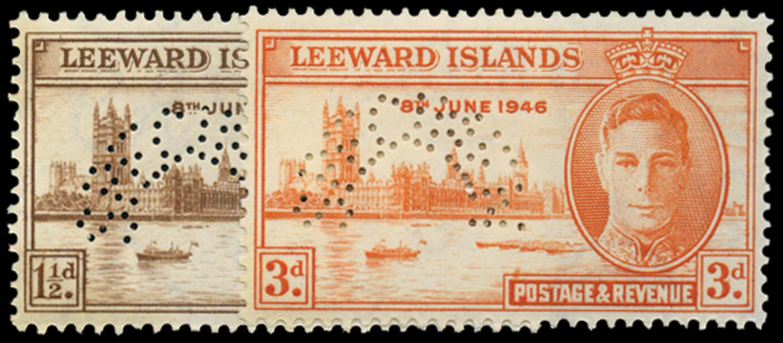 LEEWARD ISLANDS 1946  SG115s/16s Specimen