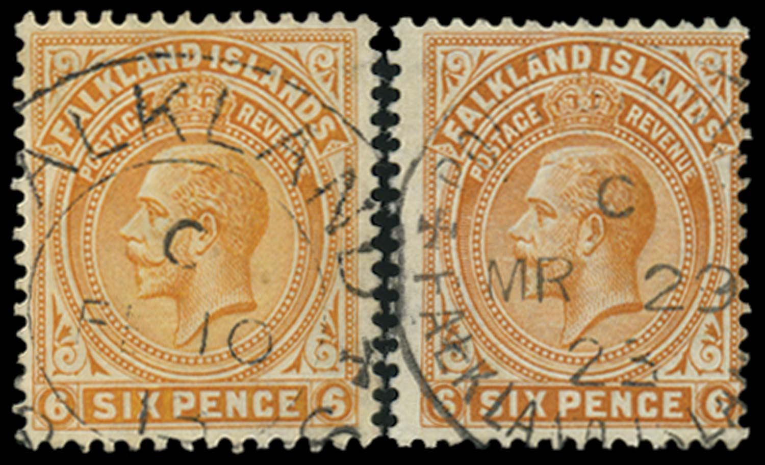FALKLAND ISLANDS 1912  SG64,b Used
