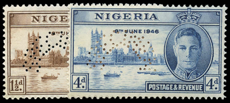 NIGERIA 1946  SG60s/1s Specimen