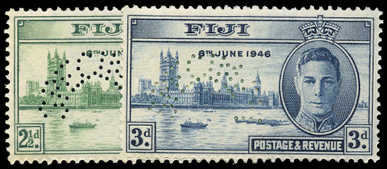FIJI 1946  SG268s/9s Specimen
