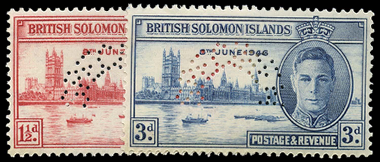SOLOMON ISLANDS 1946  SG73s/4s Specimen
