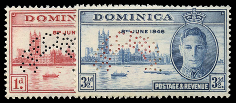 DOMINICA 1946  SG110s/11s Specimen