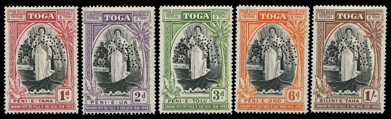 TONGA 1946  SG83s/7s Specimen