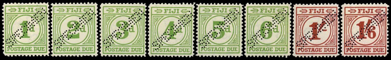 FIJI 1940  SGD11s/18s Specimen