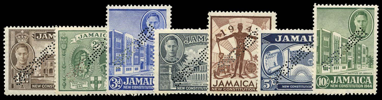 JAMAICA 1946  SG134s/40s Specimen