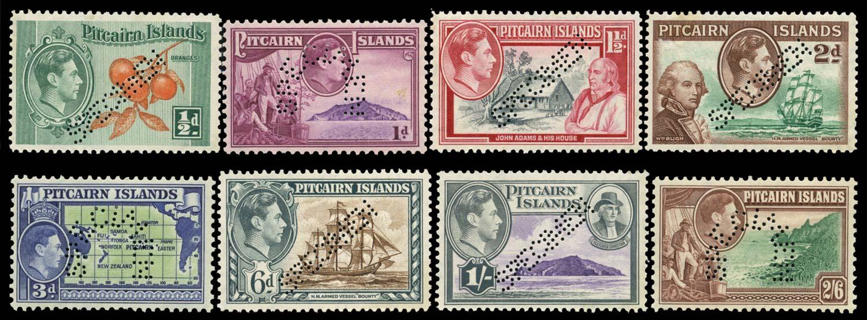 PITCAIRN ISLAND 1945  SG1s/8s Specimen