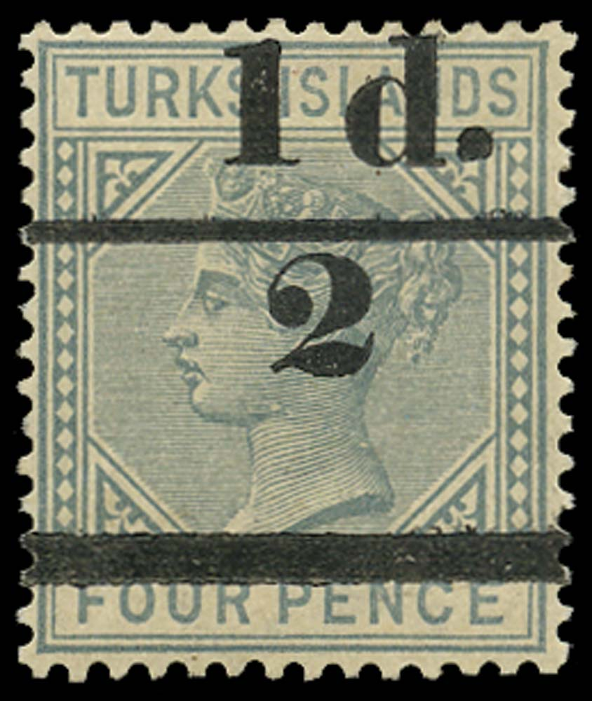 TURKS ISLANDS 1893  SG69 Mint