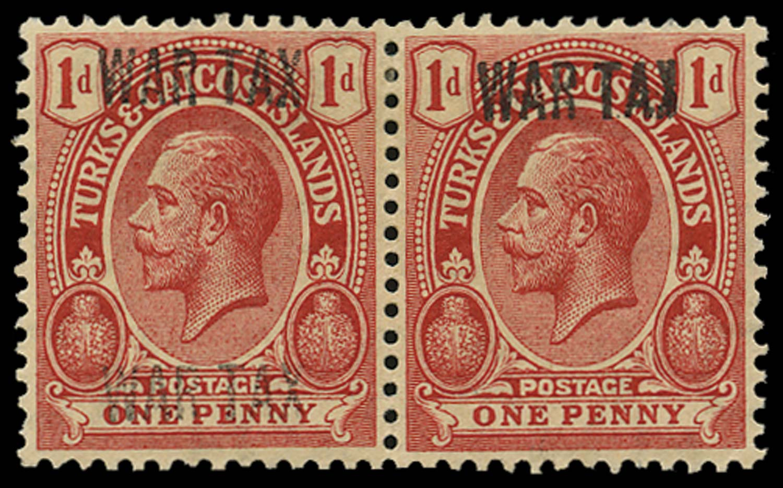 TURKS & CAICOS IS 1917  SG143f Mint