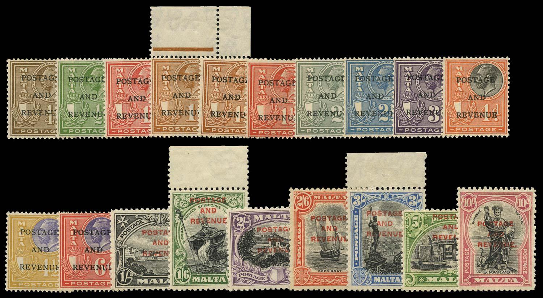 MALTA 1928  SG174/92 Mint