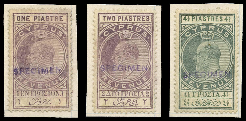 CYPRUS 1902-3  SG. Revenue