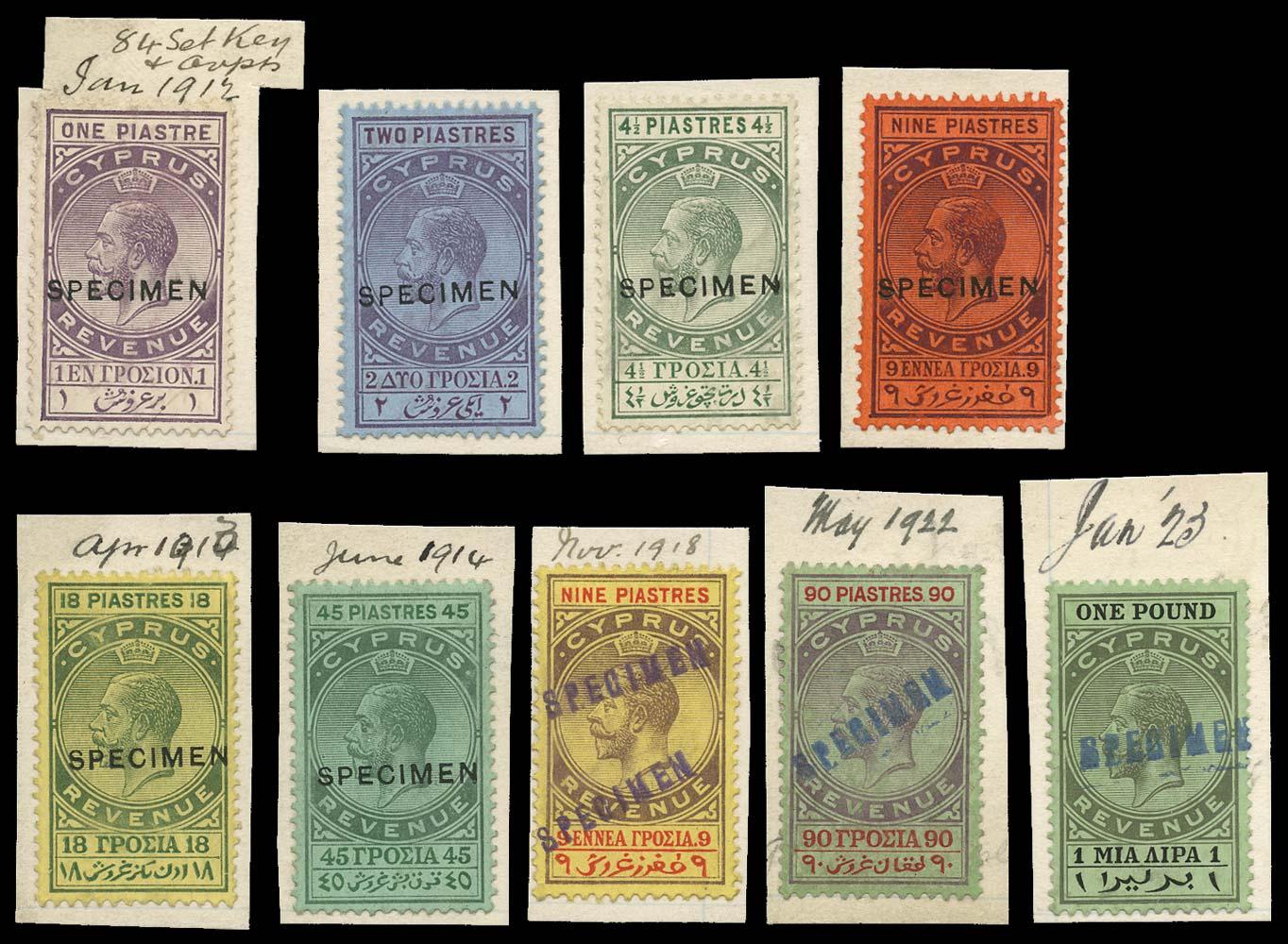 CYPRUS 1912-23  SG. Revenue