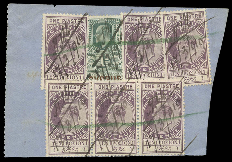 CYPRUS 1910  SG. Revenue