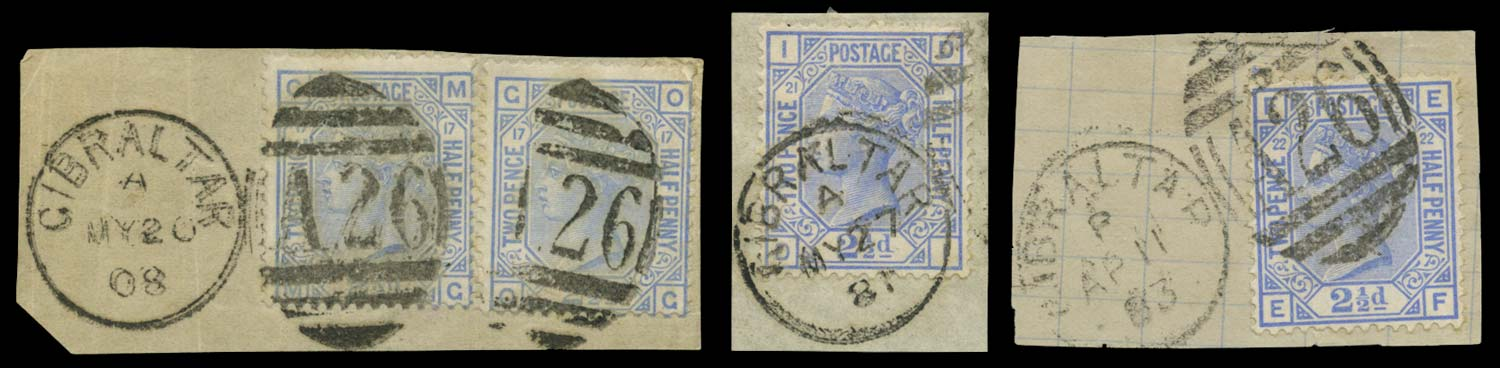 GIBRALTAR 1880-1  SGZ27/8 Cancel