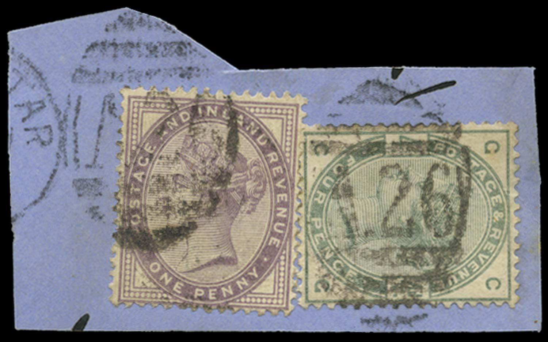GIBRALTAR 1884  SGZ82 Cancel
