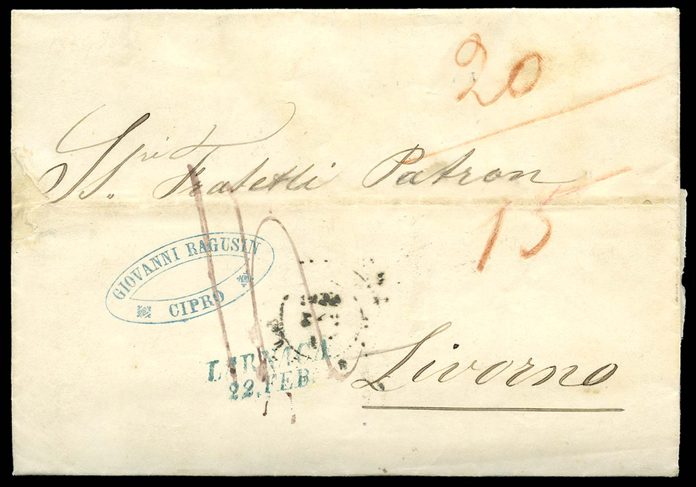 CYPRUS 1859 Cover