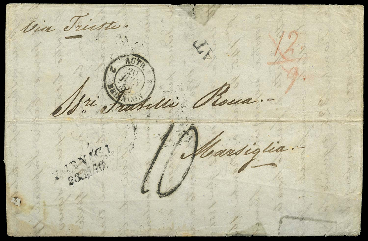 CYPRUS 1853 Cover