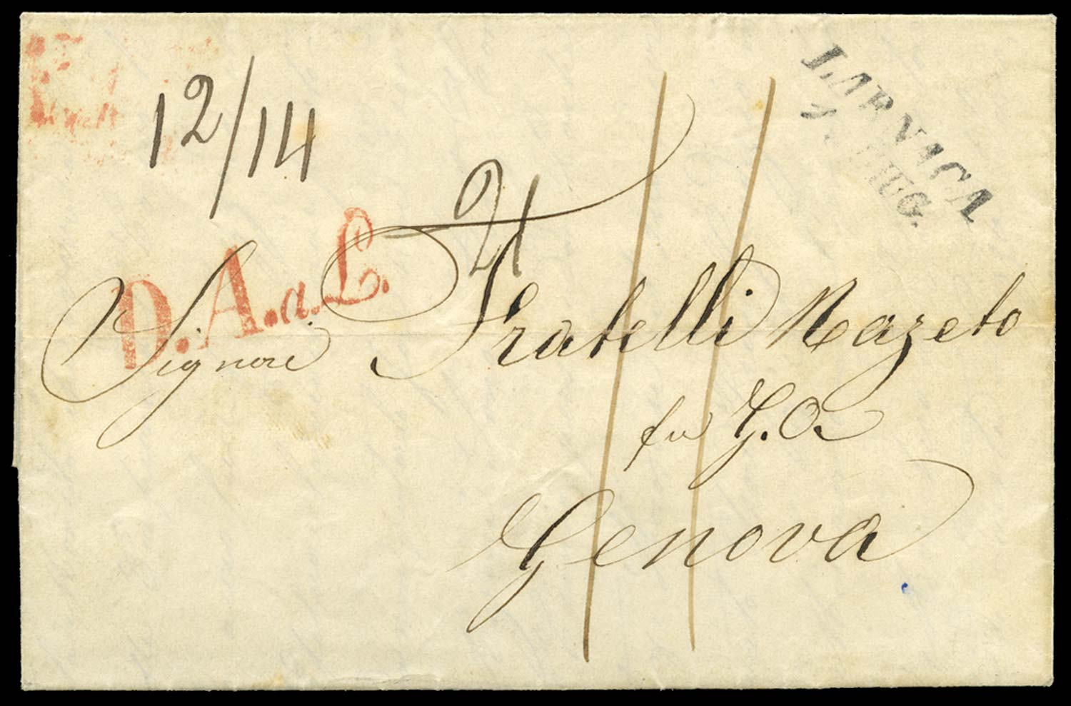 CYPRUS 1857 Cover