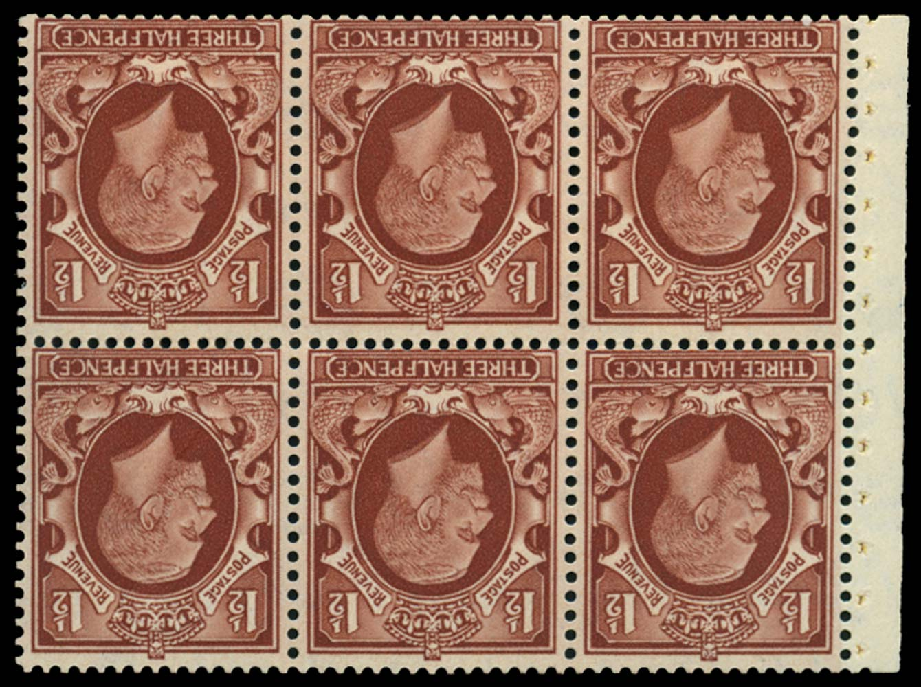 GB 1935  SG441f var Booklet pane (Intermediate format)