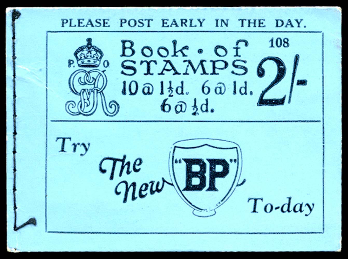 GB 1924  SGBB12 Booklet (Edition 108)