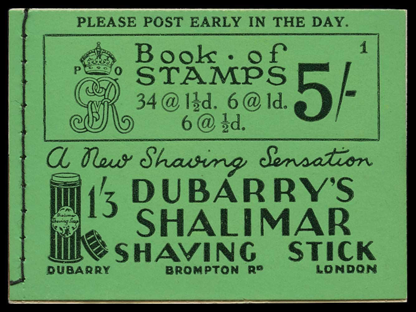 GB 1931  SGBB33 Booklet (Edition 1)