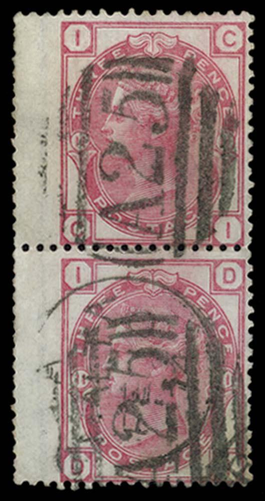MALTA 1873-6  SGZ44 Pl 11 Cancel