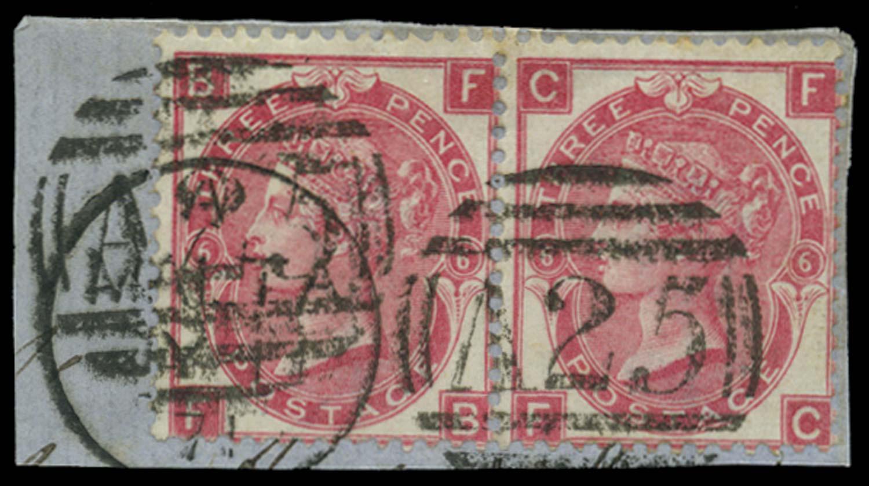 MALTA 1867-73  SGZ43 Pl 6 Cancel
