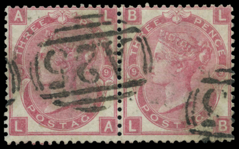 MALTA 1867-73  SGZ43 Pl 9 Cancel