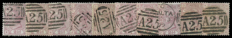 MALTA 1875-9  SGZ36, 38 Cancel